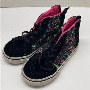 Vans 10 Toddler high-top sneakers black splashed